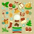 Christmas elements.