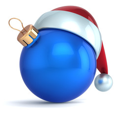 Christmas ball ornament New Year bauble decoration blue