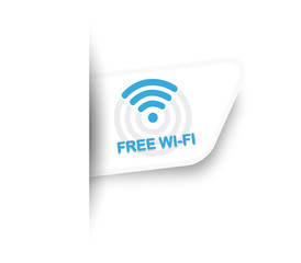 Free Wi Fi Label