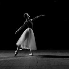 portrait of young pretty ballerina