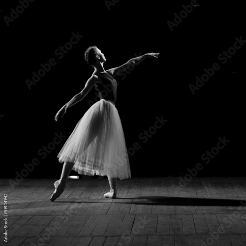 portrait of young pretty ballerina
