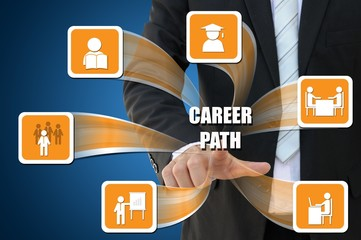 Business icon of career path concept