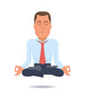 Businessman in a lotus position
