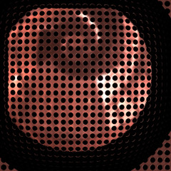 Speaker chrome grille - extreme close-up