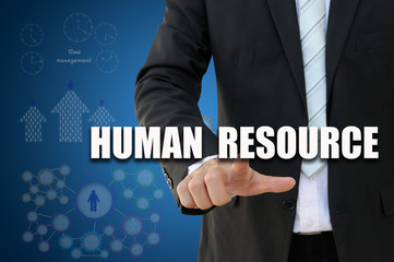 Businessman with human resources concept