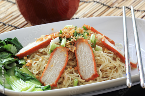BBQ Pork with Egg Noodle