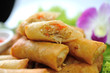 Fried Chinese Traditional Spring rolls food