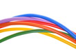 Colored cables used in electrical and computer networks