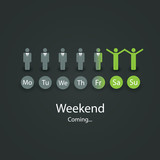 Weekends Coming Soon Illustration