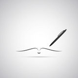 Fototapety Notebook and Pen Icon Design