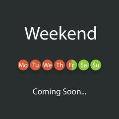 Weekends Coming Soon Illustration