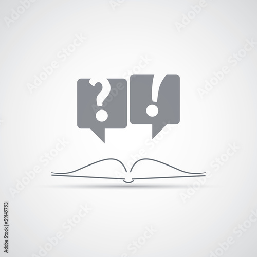 Reading a Book - Icon Design