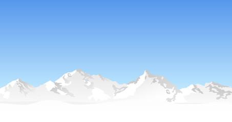 Landschaft Berge Winter