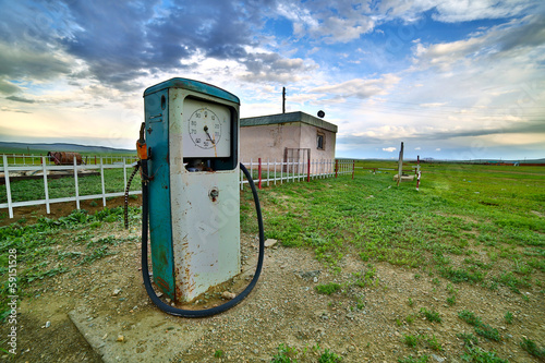 bizarre gas station pump, mongolia