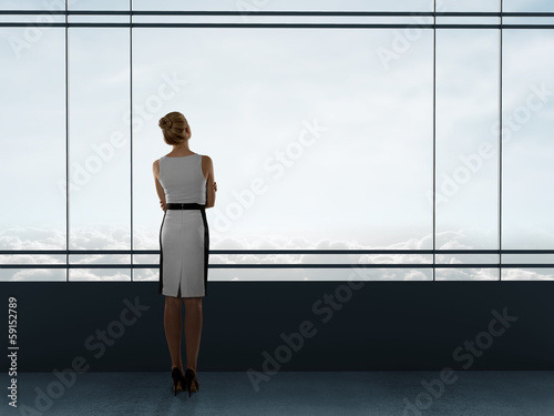 businesswoman thinking
