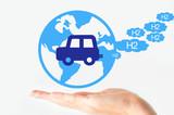 Hydrogen car concept poster