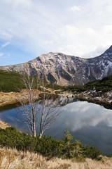 Mountain lake Rohacske pleso, Western Tatras, Slovakia