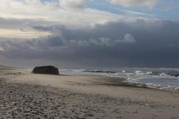 Aufziehender Orkan an der Küste