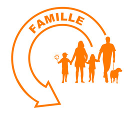 famille flèche orange