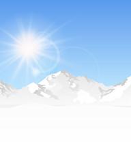Berge Schnee Sonne