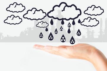 Acid rain concept