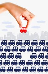 Traffic jam concept