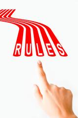 Follow rules concept
