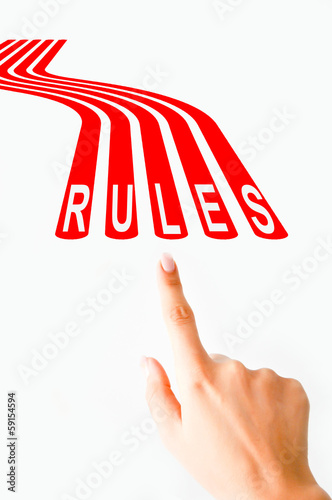Follow rules concept