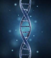 DNA helix molecules. Science concept. 3D Illustration