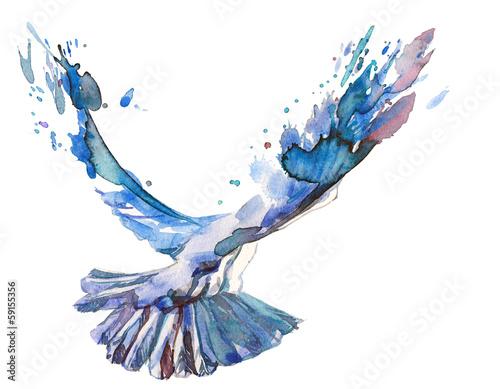 Leinwanddruck Bild bird