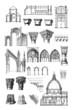 Постер, плакат: Architecture : Styles Middle Ages Renaissance