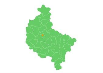Administracyjna mapa województwa