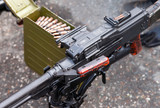 General purpose machine gun close up