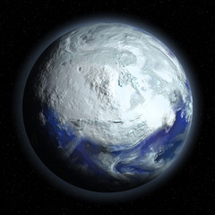 Planet Earth in Glacial Period