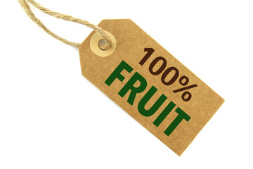 100% Fruit label