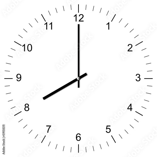 Clock Illustration 8:00