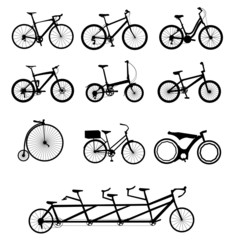 Bicycles set, vector