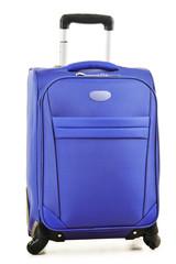 Large suitcases isolated on white background