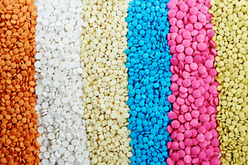 Colored round medicine tablet antibiotic pills