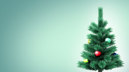 Christmas tree background, seamless loop