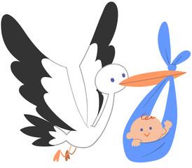 コウノトリと赤ちゃん