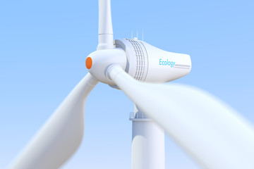 3D rendering of wind turbine