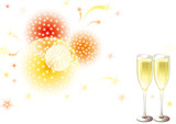 Vector holiday background with Champagne Flutes