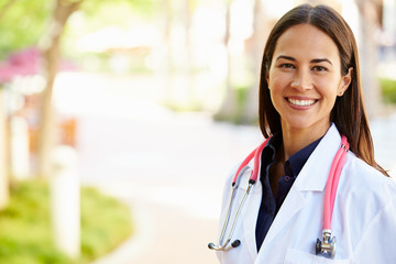 Outdoor Portrait Female Doctor