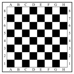Chess board without chess pieces