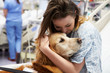 Therapy Dog Visiting Young Female Patient In Hospital - 59162583