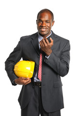 Businessman With Radio and Hardhat