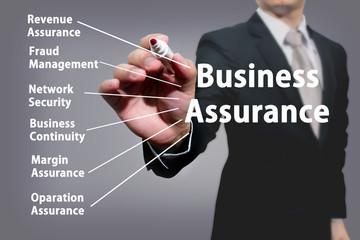 business man hand Business Assurance.