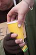 Hot drink for a beggar