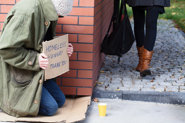 Homeless around the corner